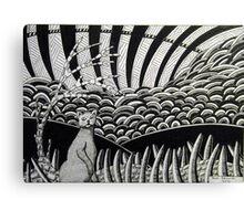 260 - CAT DESIGN - DAVE EDWARDS - INK - 2016 Canvas Print