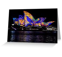 Vivid 2016 Opera House 30 Greeting Card