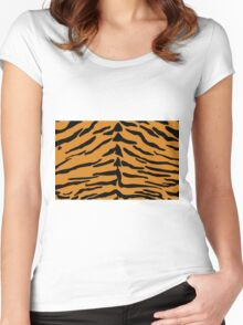 Tiger Skin Pattern Women's Fitted Scoop T-Shirt