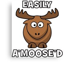 Easily A'Moose'd (Amused) Canvas Print