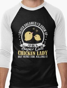 Super Cute Chicken Lady Men's Baseball ¾ T-Shirt