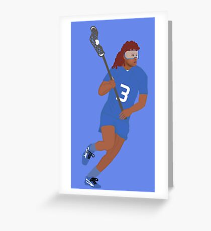 Female Lacrosse Player Greeting Card
