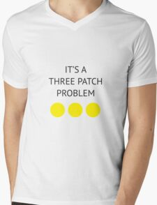 A Three Patch Problem Mens V-Neck T-Shirt