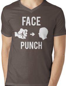 Face Punch Mens V-Neck T-Shirt
