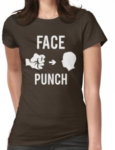 Face Punch Womens Fitted T-Shirt
