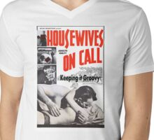Housewives on Call Retro 50's Movie Mens V-Neck T-Shirt
