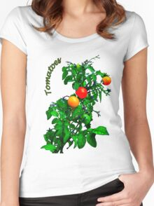 Fruit Tomatoes Women's Fitted Scoop T-Shirt