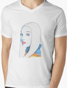 Maddie Ziegler Pencil Portrait Mens V-Neck T-Shirt