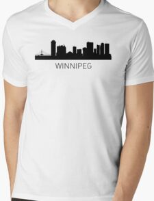 Winnipeg Manitoba Cityscape Mens V-Neck T-Shirt