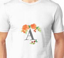 Monogram Floral A Unisex T-Shirt