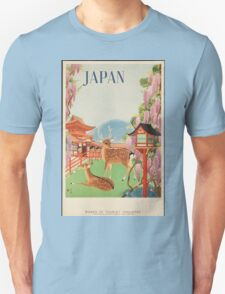 Japan Vintage Travel Poster Unisex T-Shirt