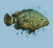 Goliath Grouper ~ Watercolor Baby Tee