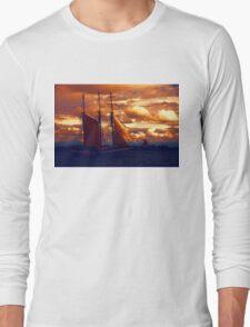 Tallship - Moody Blues and Powerful Oranges Long Sleeve T-Shirt