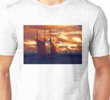 Tallship - Moody Blues and Powerful Oranges Unisex T-Shirt