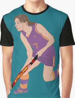Female Field Hockey Player Graphic T-Shirt
