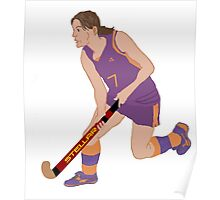 Female Field Hockey Player Poster