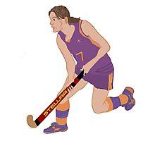 Female Field Hockey Player Photographic Print