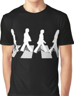abbey road black Graphic T-Shirt
