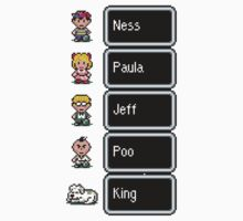 Earthbound - Characters with names Kids Tee