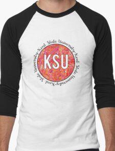 Kent State University Orange and Red  Men's Baseball ¾ T-Shirt