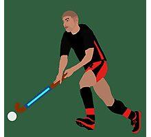 Male Field Hockey Player Photographic Print