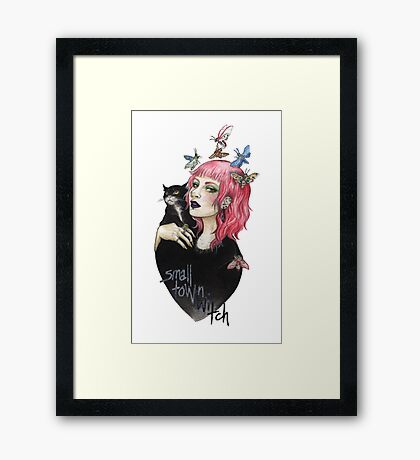 small town witch Framed Print