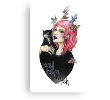 small town witch Canvas Print