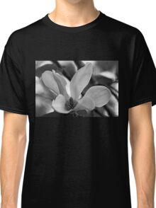 Magnolia Bloom Black And White Classic T-Shirt