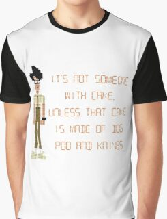 The IT Crowd – Dog Poo and Knives Cake Graphic T-Shirt