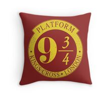 9 3/4 Harry Potter Inspired  Throw Pillow
