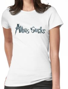 albus sucks Womens Fitted T-Shirt