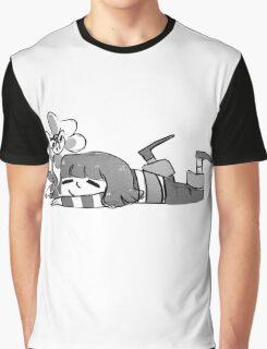 Flowey  white and black Graphic T-Shirt