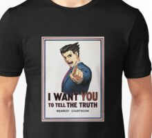 Phoenix Wright Wants YOU to Tell the Truth (full poster) Unisex T-Shirt