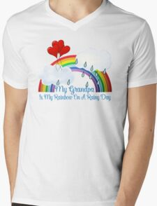 Grandpa Is My Rainbow Mens V-Neck T-Shirt