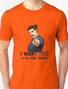 Phoenix Wright Wants YOU to Tell the Truth (transparent) Unisex T-Shirt