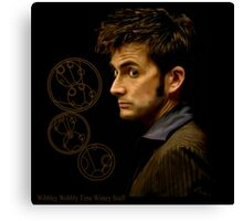 Tenth Doctor with Gallifreyan, Doctor Who Canvas Print