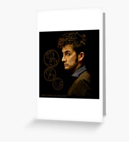Tenth Doctor with Gallifreyan, Doctor Who Greeting Card