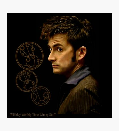 Tenth Doctor with Gallifreyan, Doctor Who Photographic Print