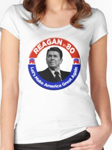 Ronald Reagan for President 1980  Women's Fitted Scoop T-Shirt