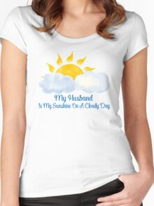 Husband Is My Sunshine Women's Fitted Scoop T-Shirt
