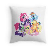 mane six Throw Pillow