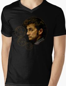 Tenth Doctor with Gallifreyan, Doctor Who Mens V-Neck T-Shirt