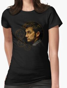 Tenth Doctor with Gallifreyan, Doctor Who Womens Fitted T-Shirt
