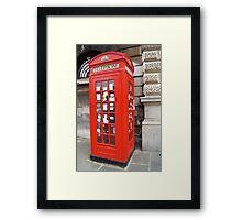 Sherlock Memorial Phonebox Framed Print