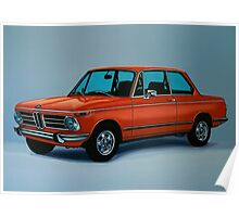 BMW 2002 Painting Poster