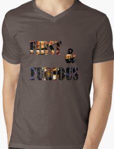 text art Mens V-Neck T-Shirt
