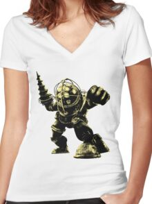 Big Daddy Women's Fitted V-Neck T-Shirt