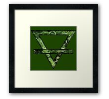 ~Nature~ Fern Earth Symbol Framed Print