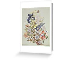 Mixed flowers in a cornucopia Greeting Card