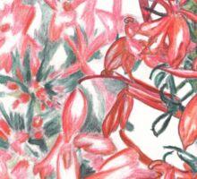 Summer Cardinal Flowers Sticker
